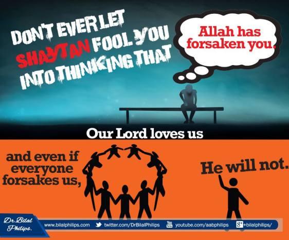allah will never forsake you